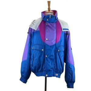 Asics Mens Vintage Ski Snow Jacket Vintage